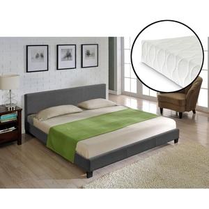 Corium Textil Doppelbett + Matratze Polsterbett 180x200cm Bett Lattenrost Stoff