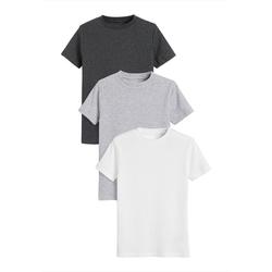 Next Unterhemd Gerippte T-Shirts aus GOTS Bio-Baumwolle, 3er Pack (3 Stück) 146-152