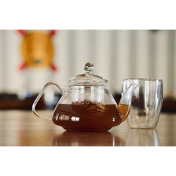YEM HOME Teekanne TEE-IN 500ml Teekanne mit Glas Sieb und Glas Decke