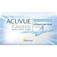 Acuvue Oasys for Astigmatism 6 St. / 8.60 BC / 14.50 DIA / +5.25 DPT / -0.75 CYL / 30° AX