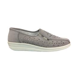 Franken-Schuhe Franken Schuhe Damen Slipper 74-4 grau Slipper 40