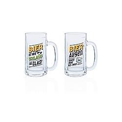 Biergläser mit lustigen Sprüchen  2er-Set