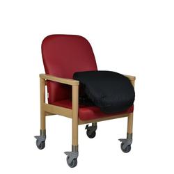 Devita Stuhl Pflegestuhl Trippelstuhl LÜBECK mit Rollen u Aufstehhilfe bis 120 kg rot