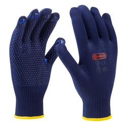 CONNEX Handschuhe, Feinstrick, blau, Größe 10
