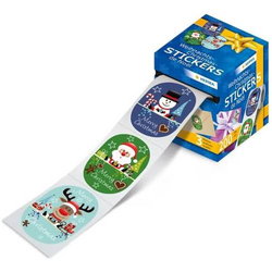 Weihnachtssticker Nikolaus Freunde oval VE=200 Sticker