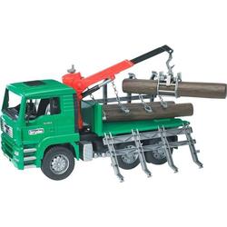 MAN Holztransport-LKW mit Lad