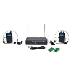 vidaXL Receiver mit 2 Drahtlosen Headsets VHF Headset