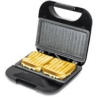 Cecotec Toast Grillfläche.Sandwichmaker mit Antihaftbeschichtung, Kapazität für 2 Sandwiches, Grillfläche, Cold Touch-Griff, Cable Retriever, 750 W.