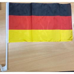 cofi1453 Flagge Deutschland Autofahne Autofensterfahne Fahnen Autoflagge Fahnen Auto Flaggen Set (4-St)