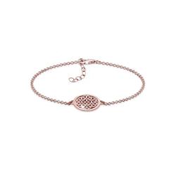 Elli Armband Lebensblume 925 Sterling Silber, Lebensblume rosa