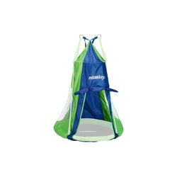 relaxdays Nestschaukel Zelt für Nestschaukel blau-grün 90 cm x 90 cm x 130 cm