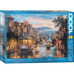 empireposter Puzzle Straßenbahnen in San Francisco - Classic Cable Cars - 1000 Teile Puzzle im Format 68x48 cm, 1000 Puzzleteile
