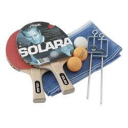 Stiga Set Solara - Tischtennisschläger + Netz Red/Blue