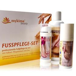 mykima - Kiss of Nature - Fußpflege - Fußpflegeset (Fußbad, Fußbalsam & Fußdeo) - 3-tlg Set