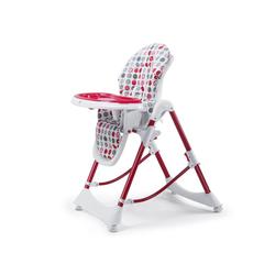 Baby Vivo Hochstuhl Design Kinderhochstuhl aus Kunststoff - Tippy in Dunkelrot