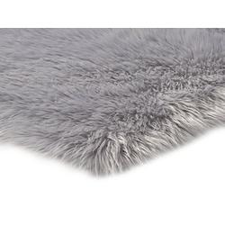 Teppich Synthetik Lammfell grau ca. 80/150 cm
