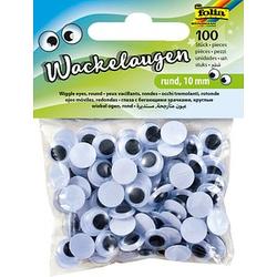 folia Wackelaugen 10,0 mm 100 St.