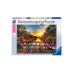 Ravensburger Puzzle Ravensburger - Fahrräder in Amsterdam, 1000 Teile, 1000 Puzzleteile