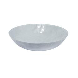 Alessi Schale Schale Joy n.1, Centrotavola 37 cm, weiß matt, Edelstahl 18/10
