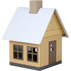 Crottendorfer Metall Häuser mit integriertem Räucherkerzenhalter Waldhaus in Sandfarben