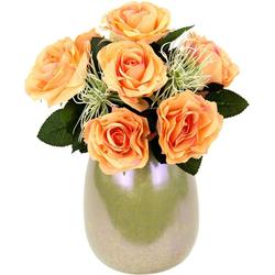 Kunstpflanze Rosen/Protea, I.GE.A., Höhe 25 cm