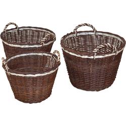 Aufbewahrungskorb (Set, 3 Stück), Ø 45, 50, 54 cm