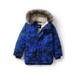 Expeditions-Parka, Kids, Größe: 152/164 Kind, Blau, Wolle, by Lands' End, Camouflage/Blau - 152/164 - Camouflage/Blau