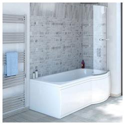 HAK Badewanne SKALI Badewanne, rechts, weiß, 167,5x85/75x40 cm