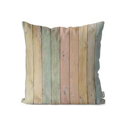 Kissenbezug, VOID (1 Stück), Pastell Bretter Kissenbezug holz pastell plank licht alt textur natürlich plank 80 cm x 80 cm