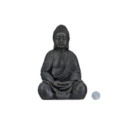 relaxdays Buddhafigur Buddha Figur 50 cm grau
