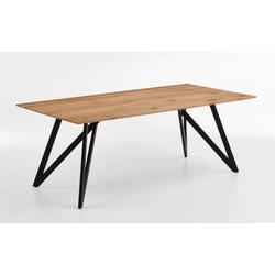 Valmondo Design-Tisch 3103 in Charakter-Eiche massiv