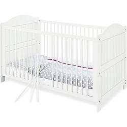 Kinderbett NINA, massiv/Weiß lasiert, 70 x 140 cm weiß