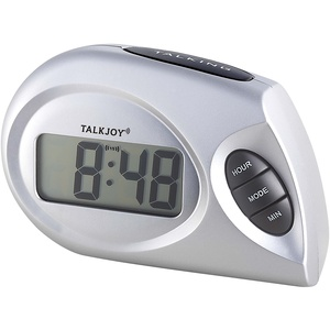 Profi Sprechende Uhr Tischuhr Zeitansage Blindenuhr Seniorenuhr großes LCD Display Nachttisch Sehbehinderung Alltagshilfe Wecker
