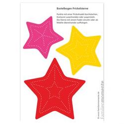 Prickel-Vorlage Sternen-Mobile