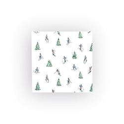 HOME FASHION Papierserviette Skifahren, (5 St), 33 cm x 33 cm