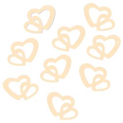 Herz Konfetti Tischdeko Hochzeitsdeko Liebe Romantik - creme