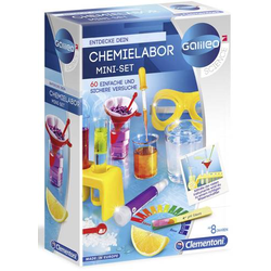 Clementoni 59072 Galileo - Mini Chemielabor Chemie Experimentier-Set ab 8 Jahre