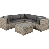 ArtLife Nassau Lounge-Set beige-grau/dunkelgrau