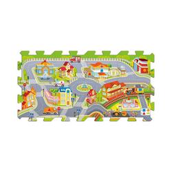 Trefl Puzzlematte Schaumstoff-Puzzle - Die Stadt, Puzzleteile
