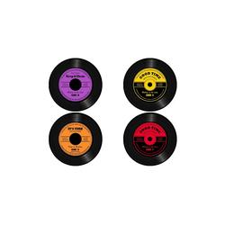 HTI-Line Glasuntersetzer Untersetzer 4-tlg Vinyl, 4-teilig, 4-tlg., Untersetzer