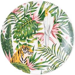 Bloomingville Damen Speiseteller 'Moana' weiß / grün / gelb / pink, Größe One Size, 4785501