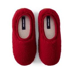 Hausschuhe aus Teddy-Fleece - 38.5 - Rot