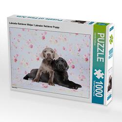 Labrador Retriever Welpe / Labrador Retriever Puppy Lege-Größe 64 x 48 cm Foto-Puzzle Bild von Jeanette Hutfluss Puzzle