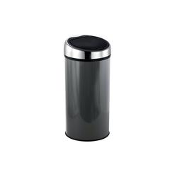 MSV Mülleimer Design Abfalleimer mit Touch-Automatik, bequemes und geräuschloses Öffnen, geruchsdicht, Edelstahl, 30 L, anthrazit grau