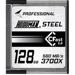 HOODMAN CFast Card 128GB 2.0 3700X U3 4K