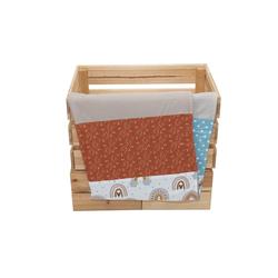 Babydecke Babydecke Regenbogen 70x100 cm als Kinderwagendecke & Spieldecke (Made in EU), ULLENBOOM ®, Aus hochwertiger Baumwolle & Fleece