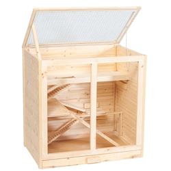 Holz Hamsterkäfig Arni, L53 x B80 x H80 cm, natur