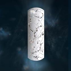 Swarovski Apta 2-flg. Wandlampe in Schwarz mit klaren Kristallen