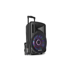 "Fenton FT12LED Aktiv-Lautsprecher 12"" 700W BT/USB/SD/AUX LED Akku Trolley Portable-Lautsprecher"