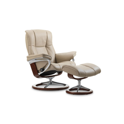 Stressless Ruhesessel Mayfair (M) in Cori vanilla mit Signature brown Gestell